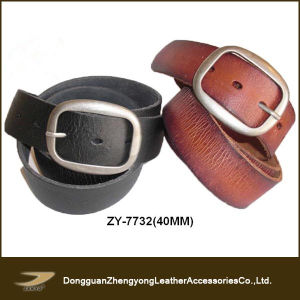 2013 Janyo New Designed Fashion Top Grain Leather Belts for Men (ZY-7734)