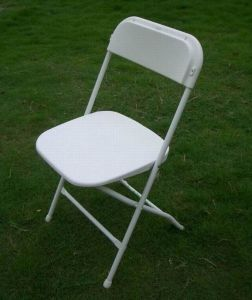 Plastic Steel Folding Chair for Outdoor Party pictures & photos