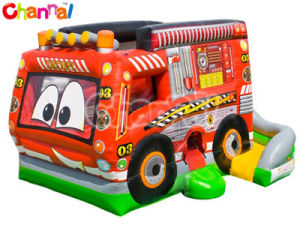 Fire Truck Combo Inflatable Bouncy Jumping Bouncer with Slide Bb273 pictures & photos