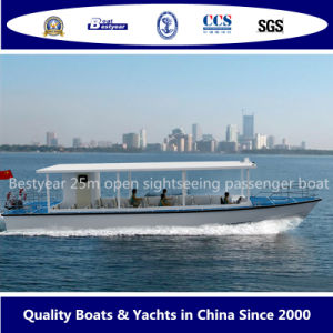 Open Sightseeing Passenger Boat 25m pictures & photos