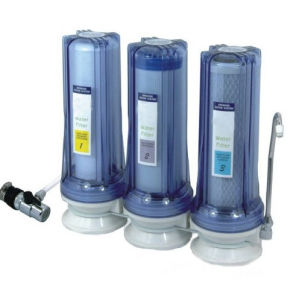 3stages Table Type Water Purifier with Universal Tap Faucet Connector pictures & photos