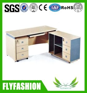 Wooden Office Working Table with Side Cabinet (OD-123) pictures & photos