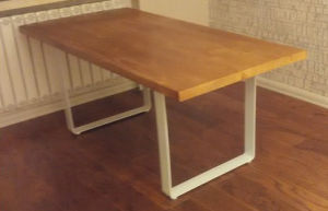 Solid Pine Wood Table with Popular pictures & photos