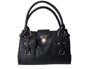 Black Cowhide Leather Handbag (DS1301453)