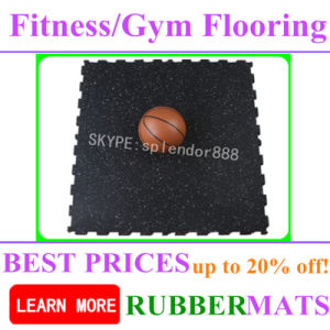 2016-2017 on Sales Gyms Rubber Outdoor Indoor Colorful Flooring Tiles pictures & photos