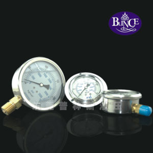 "63mm (2.5"") Oil Filled Pressure Gauge Yn63c pictures & photos"