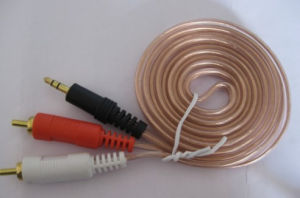 Gold Plant 3.5mm Stereo to 2RCA Cable