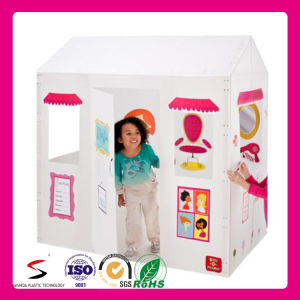 Custom Printed Plastic Corrugated DIY Drawing Playhouse for Children pictures & photos