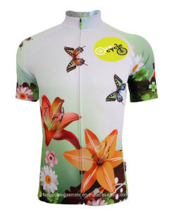 The Latest Sports Bicycle Summer Clothing, Cycling Jerseys, Butterfly Dance with Short Sleeve Polo Shirt