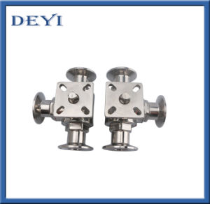 Stainless Steel Hygienic Three Way Ball Valve Tc Ends pictures & photos