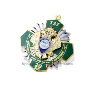 Skeleton Organizational Engraving Badge with Diamonds Inserted (GZHY-LP-021) pictures & photos
