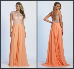 Coral Mother of The Bride Gown Prom Gowns Lace Evening Dress Y112 pictures & photos