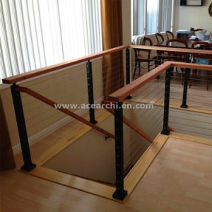 High Quality Polished Stainless Steel Cable Railing / Wire Balustrade for Exterior Terrace pictures & photos