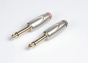 """High Quality 1/4"""" Phone Connector 6.35 Mono Stereo Plug (X121) pictures & photos"""
