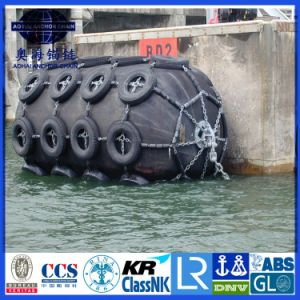 Ship Marine Pneumatic Yokohama Fender with Tyre Net pictures & photos