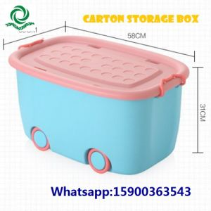 Plastic Storage Container with Wheels pictures & photos