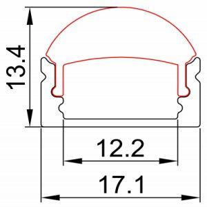 OEM 1M 1.5M 2M LED Strip Aluminium Profile pictures & photos