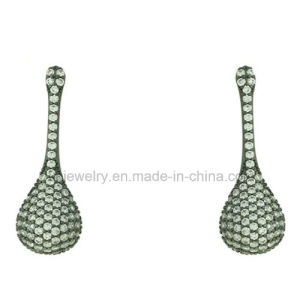 Wholesale Price Brass Jewelry Teardrop Earrings with CZ (KE3212) pictures & photos
