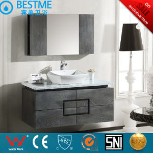 Deep Color Wooden Cabinet with Countertop Ceramic Basin by-X7093 pictures & photos