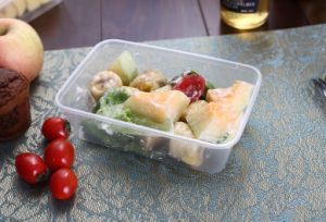 Disposable Take Away Plastic Food Container with Leak Proof Lid pictures & photos