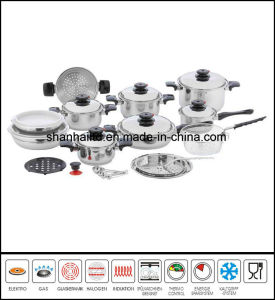 Waterless Greaseless 28PCS 18/10 Stainless Steel Cookware Set pictures & photos