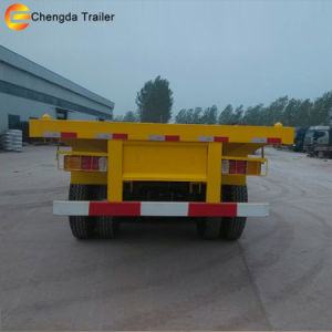 Tri-Axle Container 40ton 40FT Flatbed Container Semi-Trailer pictures & photos