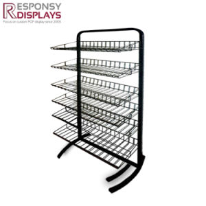 Floor Metal Wire Food Display Stand for Supermarket pictures & photos