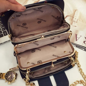 Korean Fashion Handbags Shoulder Messenger Bag Mobile Phone Bag Package Package Small Square Bag pictures & photos