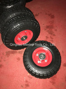 China Qingdao Maxtop350-4 Flat Free PU Foam Wheelbarrow Wheel pictures & photos