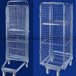 Four Sided Nestable Security Folding Trolly Roll Cage pictures & photos