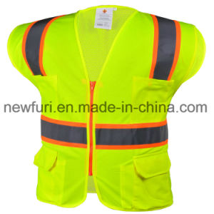 Eniso20471 Standard Reflective Vest for Police in UK Market pictures & photos