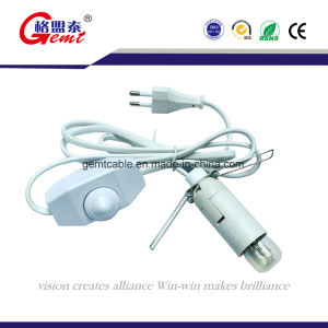 USA Salt Lamp/America Salt lamp Power Cord with Rotary Switch and E12 Straight Wing pictures & photos