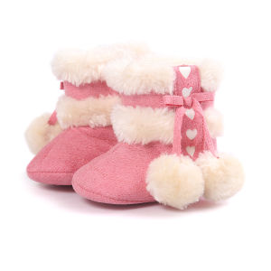 Cute Baby Boots, Winter Warm Infant Newborn Snow Boots Crib Shoes Prewalker Boy Girl pictures & photos