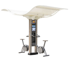 Nscc-Outdoor Fitness Equipment - Double Column Multi-Media Upright Rider (JMC-20XO) pictures & photos