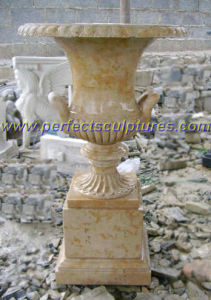 Stone Marble Flowerpot for Garden Decoration (QFP277) pictures & photos