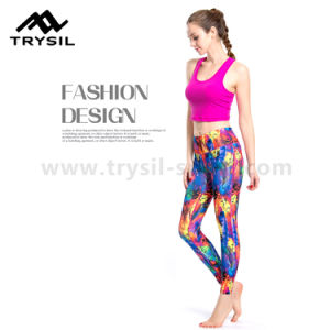 2017 Fashionable Women Fitness Wear Hot Selling Yoga Wear Compression Leggings High Elastic Quick Drying Pants Slim Runing Clothes pictures & photos