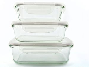Rectangular Airtight Borosilicate Glass Food Container Set pictures & photos