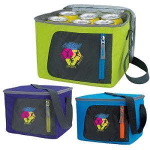 6 Can Sporty Outdoor Lunch Cooler Bag (DM15707)