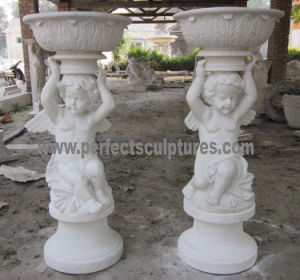 Carved Stone Flower Pot for Garden Sculpture (QFP323) pictures & photos