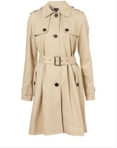 a-Line Peter Pan Collar Trench