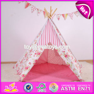 Portable Kids Playhouse Cotton Girls Play Tent Best Sale Indoor Pink Girls Play Tent W08L007 pictures & photos