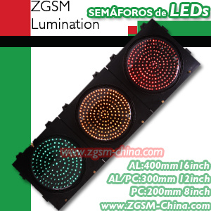 LED Traffic Lights with 3-Aspects Signal Light for Vehicle Signal (JD300-3-ZGSM-3A)
