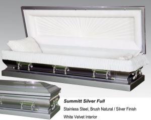 Summitt Silver Full Couch Casket