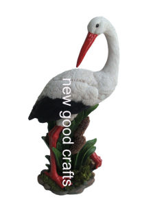 Polyresin White Stork Decoration (STWN4021)