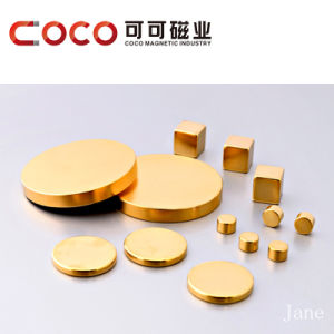 Aureate Small Round Piece Magnet/Overgild Magnet pictures & photos