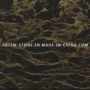 Polished Natural Black Golden Marble for Tile, Slab, Countertop pictures & photos