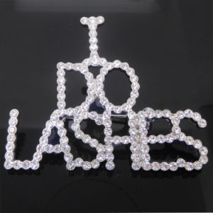Custom Crystal Initial Letter Logo Brooch I Do Lashers Brooch pictures & photos
