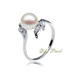 925 Silver Jewelry Ring with Freshwater Pearl and CZ (RA0560)