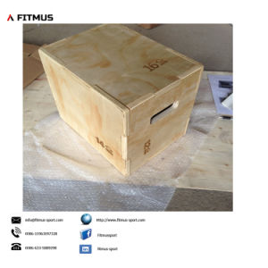 Wooden 3-in-1 Plyo Box 12inch 14inch 16inch pictures & photos