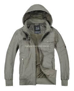 Man Spring Casual Cotton Washing Hoody Jacket/Coat
